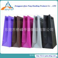 纯色手提PVC塑料礼品袋 服装购物袋 广告袋批发