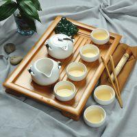 厂家直销 陶瓷功夫茶具礼品套装 竹制茶盘茶具套装特价 促销批发