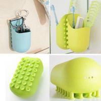 伊富春 创意浴室多功能吸壁置物收纳篮收纳架牙刷盒AZ8119