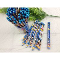 迪士尼公主米奇KT木头木质铅笔72支装筒 11款HB圆杆笔图案可选