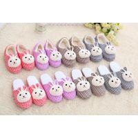 创意可爱格子 兔子头 棉拖鞋月子鞋 家居拖鞋秋冬季保暖特价