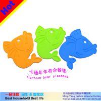 供应生产硅胶煲垫,卡通年年有鱼餐垫,鱼形餐垫