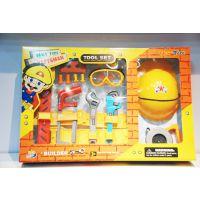 儿童仿真过家家益智维修工具箱工具套装,工程箱,安全帽玩具