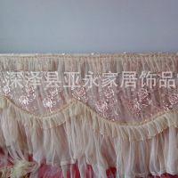 【可定做】蕾丝布艺床头罩子  卧室温馨装饰品 浪漫居家必备 批发