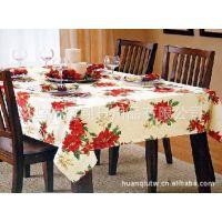 餐厅提花桌布、涤纶印花台布、餐桌布  、盖巾质优价廉