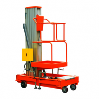 升高4/6/8/10米的小型单柱铝合金升降机 体积小重量轻液压电动升降台图片