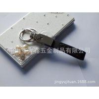 供应高档真皮钥匙扣,金属广告促销礼品