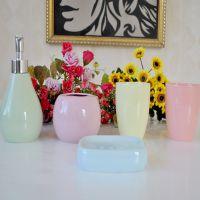 供应 陶瓷卫浴颜色釉五件套装 卫生间浴室用品用具 洗漱洁具23023