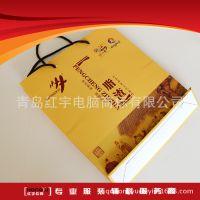 手提袋覆膜白卡手提纸袋食品服装手提袋牛皮纸袋生产厂家