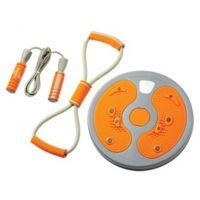 攀能运动健身器材三件套 PN-5143扭腰盘拉力器家庭健身套装