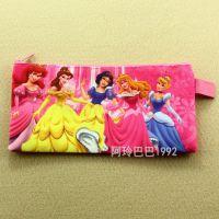 迪士尼公主 白雪公主 可爱笔袋牛津布拉链袋 B6学生学习文具袋子