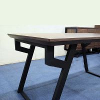 复古家具实木餐桌椅组合做旧铁艺餐桌咖啡桌创意U型餐桌椅看定做