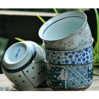 中式日式 餐饮用具 青花风5只装陶瓷器 陶瓷碗 米饭碗 汤碗套装
