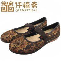 厂家现货供应 秋季新款正品舒适防滑中老年布鞋 耐磨平跟女鞋特价