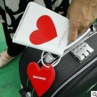韩国护照夹+行李牌+硅胶扎带 爱心款 云朵款 护照套两色选