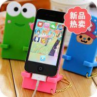 韩国时尚 超人气橡胶手机 可爱卡通乖乖手机支架 托架