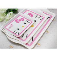 Hello Kitty凯蒂猫托盘水果盘零食盘餐桌盘 三只套装大中小可拆分