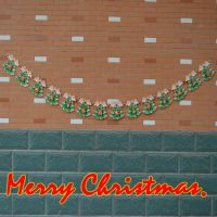 圣诞节装饰 圣诞吊旗 圣诞彩旗拉花 2.6米14面英文圣诞快乐吊旗