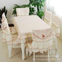 崇尚家居 厂家批发供应新品餐桌布椅田园家用桌布坐垫13件套