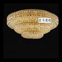 奢华豪华金黄色圆形大功率LED水晶吸顶灯 客厅大厅卧室餐厅灯饰
