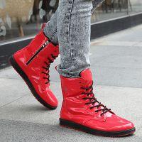 男士休闲鞋高帮韩版流行男鞋 日常休闲男式时尚板鞋 流行男鞋子
