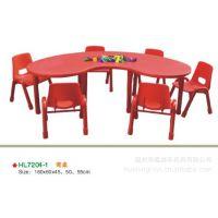 儿童塑料弯桌 幼儿园弯桌 幼儿园课桌椅 儿童塑料桌椅 幼儿园桌