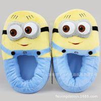 小黄人儿童保暖拖鞋滴胶布防滑舒适填充公仔家居鞋多种尺寸可以做