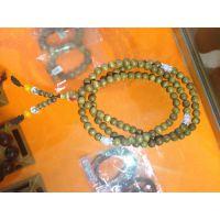 供应印尼沉香木佛珠手链多层手串 216棵0.45mm民族手工饰品