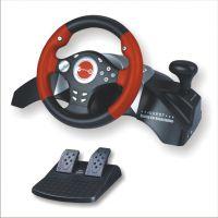 供应趣迷厂家直销XOBX360/USB/PS2/PS3零死角双震动游戏方向盘