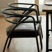 美式乡村复古做旧家具铁艺吧台椅创意软坐垫餐椅休闲咖啡厅椅子