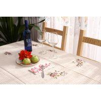 绣花台布生产定做各种床上用品外贸定单 台布、桌布