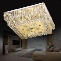 福到家方形水晶灯具厂家批发LED现代新款吸顶客厅灯餐厅灯饰
