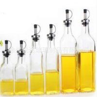 实用无铅创意油瓶 不锈钢油嘴 橄榄油玻璃瓶 油壶 酱油醋瓶
