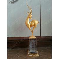 供应羊年水晶奖杯,深圳羊年企业表彰大会奖杯,深圳特色羊年水晶奖杯