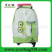 深圳拉杆包厂家 牛津布拉杆书包 儿童拉杆书包 幼儿园拉杆背包