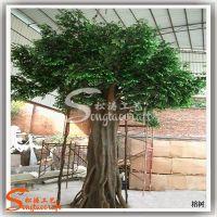 室内高品质造景专用大型仿真树 玻璃钢人造榕树 景观榕树