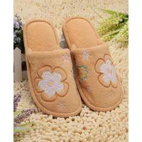 女棉拖鞋2014冬新外贸单刺绣珊瑚绒保暖居家拖鞋厂家直批一件代发