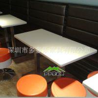 厂家直销小吃店餐桌椅 餐桌 快餐桌子 西餐厅桌 4人桌 可定制