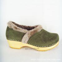 厂家直销2015新款森林系军绿弹力绒女式棉鞋保暖妈妈孕妇木底鞋
