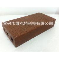 优质真空烧结砖 200*100*40 咖啡色 透水砖 多孔砖 广场砖