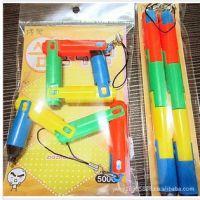 B6026韩国文具折叠笔 韩版简约糖果色伸缩折叠圆珠笔 创意挂件笔