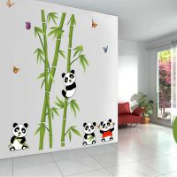 JM7281新款熊猫竹子墙贴可爱贴画儿童房电视客厅背景墙装饰墙贴纸