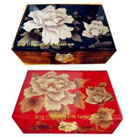 批发平遥漆器首饰盒 茶叶包装盒 礼品盒 酒店用具盒