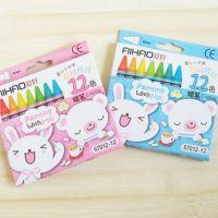 P20-2A806学习用品 爱好布绒娃娃12色蜡笔 学生奖品 文具批发