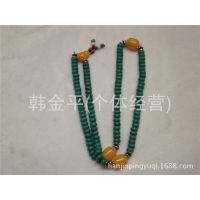 批发供应绿松石108粒佛珠藏式手链 手串01