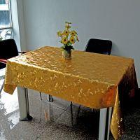 PVC桌布/烫金3D压纹复合(棉/无纺布/水刺布/纱线布)台布桌布