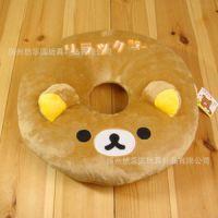底价促销毛绒玩具批发轻松熊坐垫汽车垫甜甜圈靠垫美臀坐垫礼物