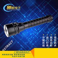 新款潜水手电 铝合金强光防水手电筒磁控无极调光 潜水用品批发