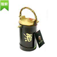 巨匠厂家专业定制环保竹制带提手式仿古茶水壶 竹茶杯 竹制茶具