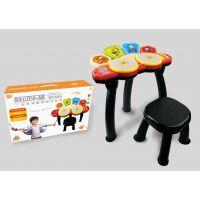 贝芬乐男女小孩幼儿童电架子爵士鼓音乐器升降话筒麦克风早教玩具